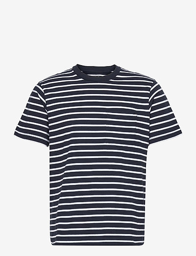 Organic Cotton Pocket T-Shirt - polo shirts - navy stripe