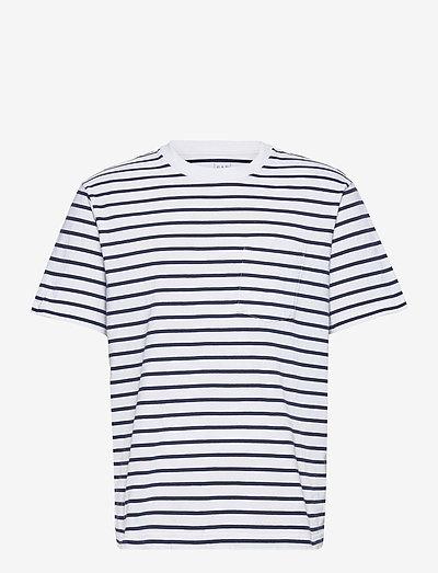 Organic Cotton Pocket T-Shirt - polos à manches courtes - optic white stripe