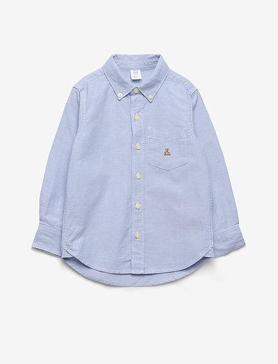 Toddler Oxford Button-Down Shirt - shirts - blue opal 420