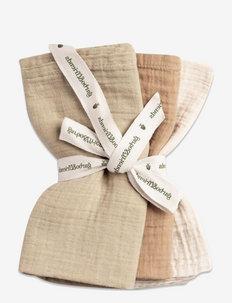 Hay Muslin Burp Cloths 3 pcs - hagesmæk - olive