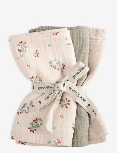 Muslin Burp Cloths 3 pcs - muslins - clover