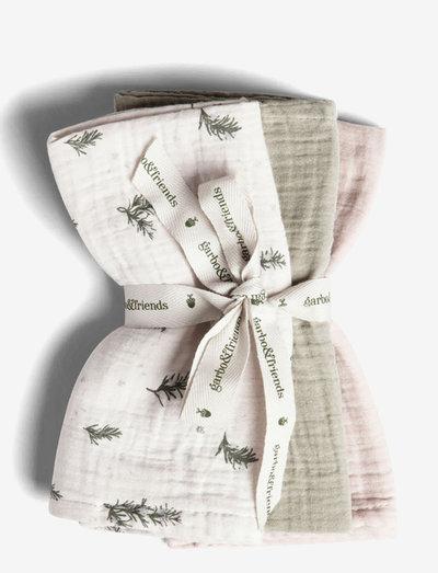 Muslin Burp Cloths 3 pcs - muslins - rosemary