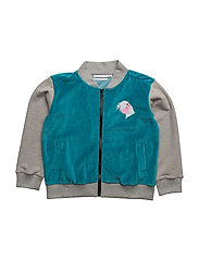 THE BOMBER JACKET NOMAD - GREY/TEAL BLUE