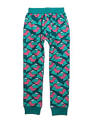 HANG OUT PANTS CONRAD AOP - TEAL BLUE