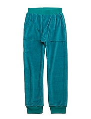 HANG OUT PANT VELOUR - TEAL BLUE