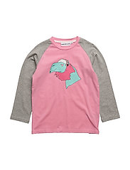 THE LONG SLEEVED TEE CONRAD THE CAMEL - PINK/GREY