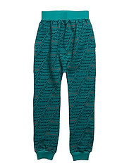 SLOUCHY PANTS NOMAD AOP - TEAL BLUE