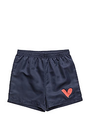 THE SURF SHORTS LOVE HEART - TEAL BLUE