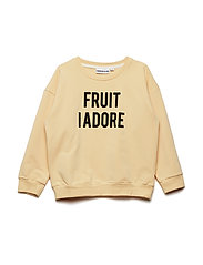 THE CLASSIC SWEATSHIRT FRUIT I ADORE - BEIGE