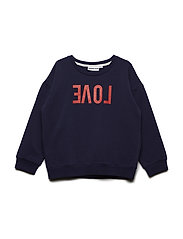 THE CLASSIC SWEATSHIRT REVERSE LOVE - BLUE