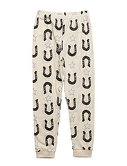 LEGGINGS STARS AND UNICORNS - CREME