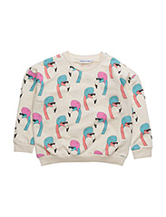 THE CLASSIC SWEATER HELMUT FLAMINGO ALL OVER PRINT - CREME