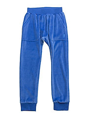 VELOUR HANG OUT PANT BOLT POCKET - NAVY BLUE