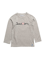 THE LONG SLEEVED TEE ZOOLOGICAL - HEATHER GRAY