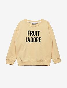 THE CLASSIC SWEATSHIRT FRUIT I ADORE - BEIGE