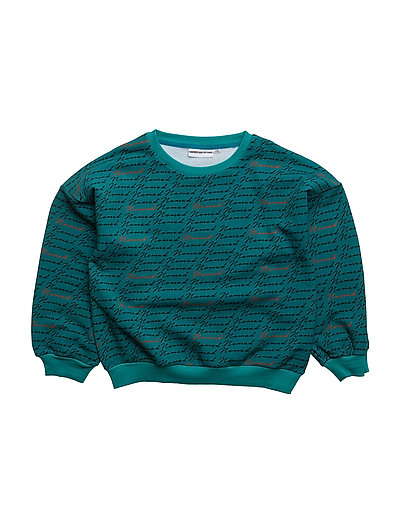 THE SWEAT SHIRT BALLON SLEEVES NOMAD AOP - TEAL BLUE
