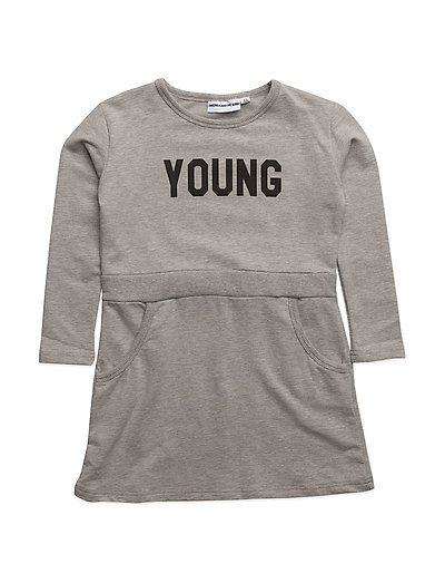LONG SLEEVED DRESS YOUNG - GREY
