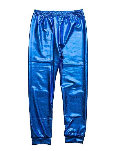 METALLIC LEGGINGS - BLUE