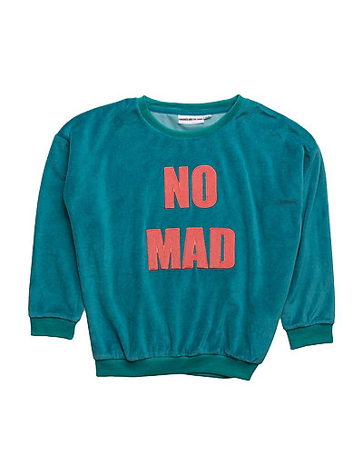 VELOUR SWEAT SHIRT NOMAD - TEAL BLUE