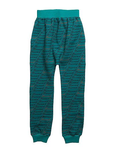 SLOUCHY PANTS NOMAD AOP - TEAL BLUE