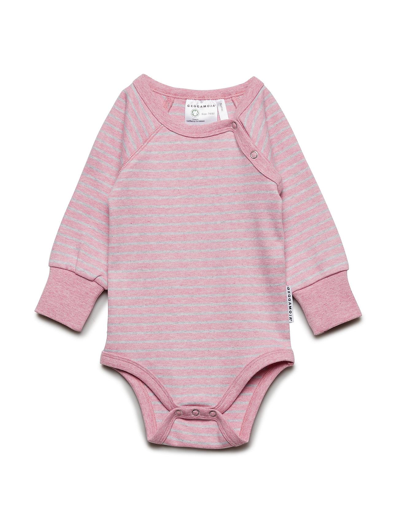 Geggamoja Baby Body Classic - PINK DAISY STRIPE