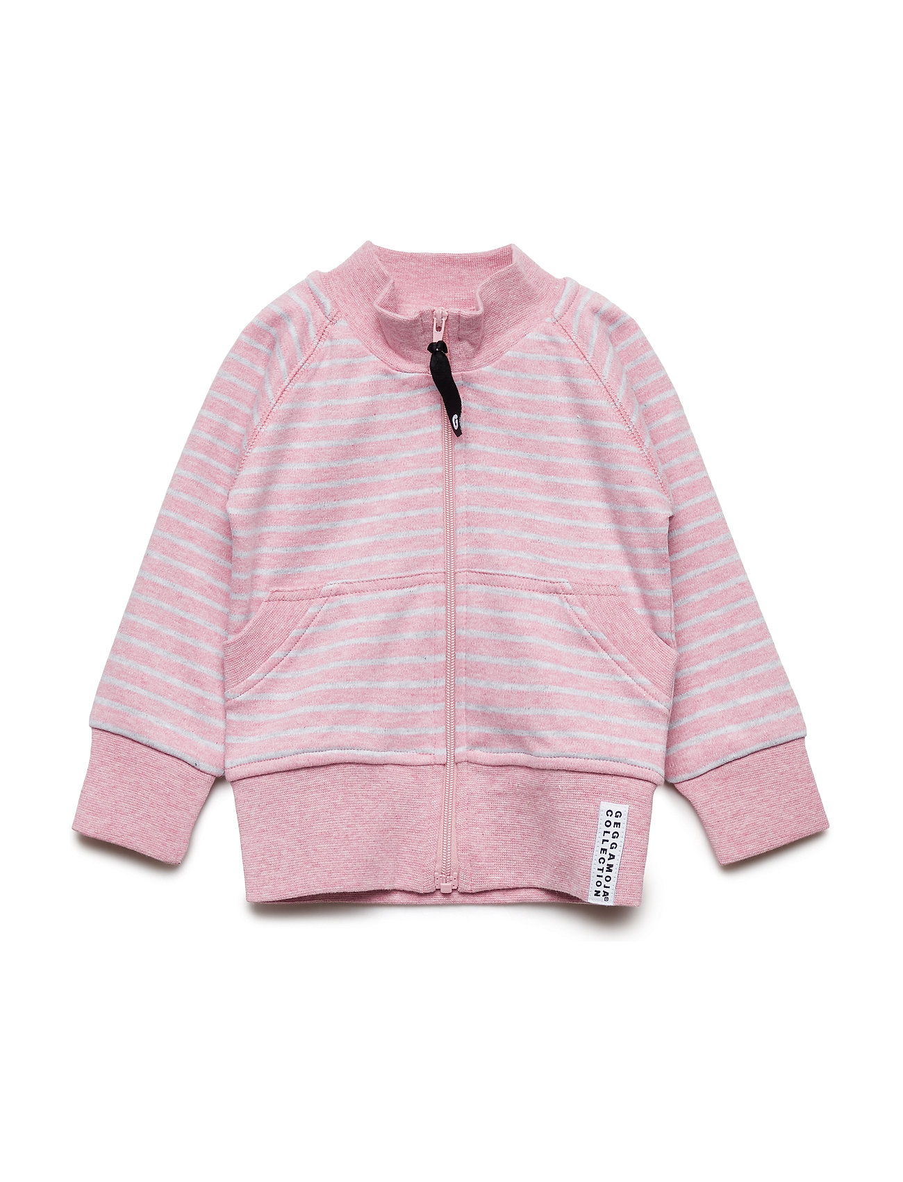 Geggamoja Zipsweater Classic - PINK DAISY STRIPE