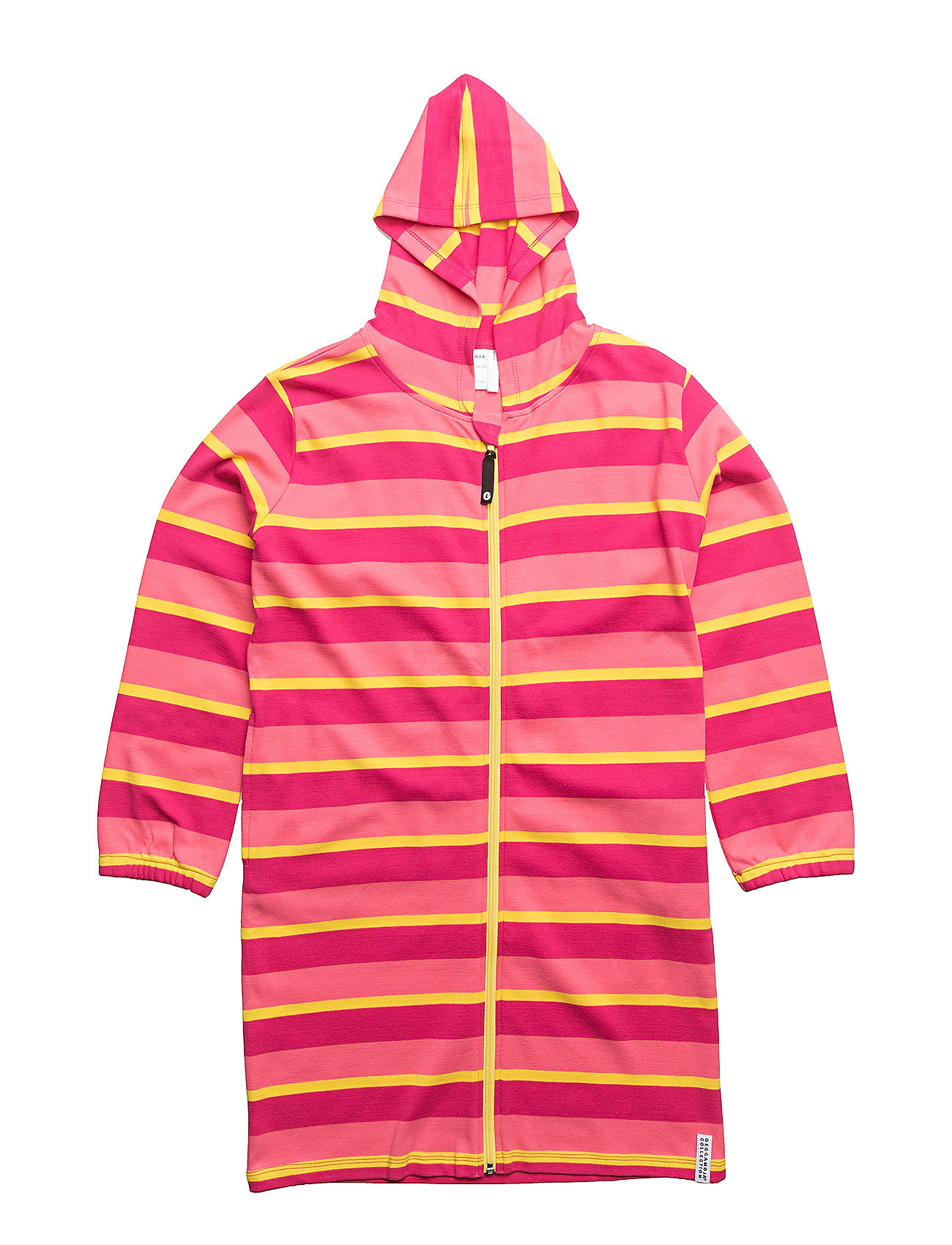 Geggamoja Bathrobe - PINK/YELLOW/CERISE