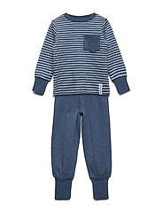Pyjamas 2-pcs Classic - MARIN BLUE STRIPE