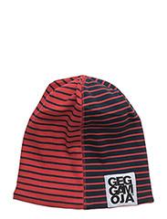 Two Color Cap Fleece - NAVY/RED