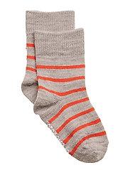 Wool socks - GREY/RASPBERRY