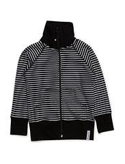Zipsweater Classic - BLACK/WHITE