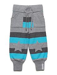 Wool trousers - GREY/BLUE