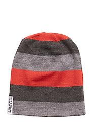 Wool cap - GREY/RASPBERRY
