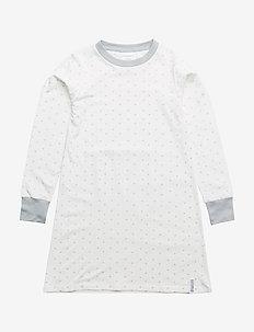 Bamboo nightgown Grey star - WHITE