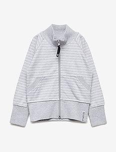 Zipsweater Classic - LIGHT GREY STRIPE