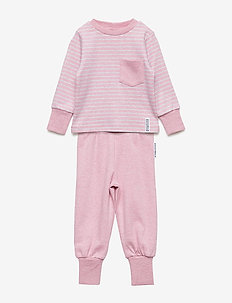 Pyjamas 2-pcs Classic - PINK DAISY STRIPE