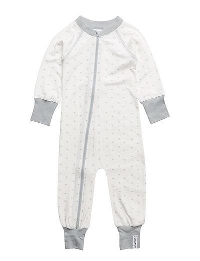 Bamboo pyjamas Grey star - WHITE