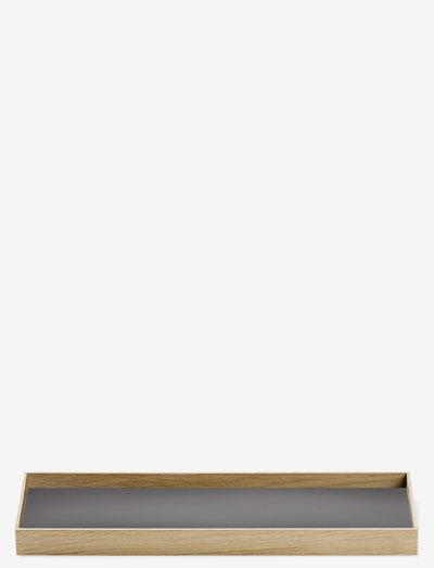 Frame tray - dekorative fat - oak grey