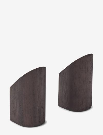 Kollage hook - 2 pcs. - kroker & knotter - black/oak