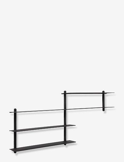 Nivo shelf B - hylder - black/ash/black
