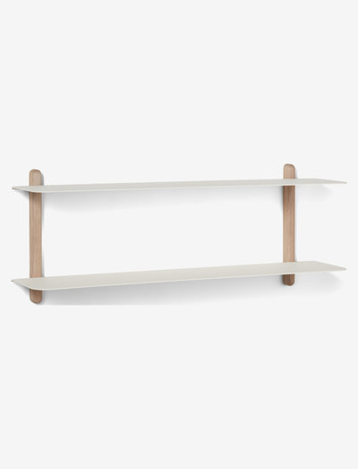 Nivo shelf F - hylder - light oak white