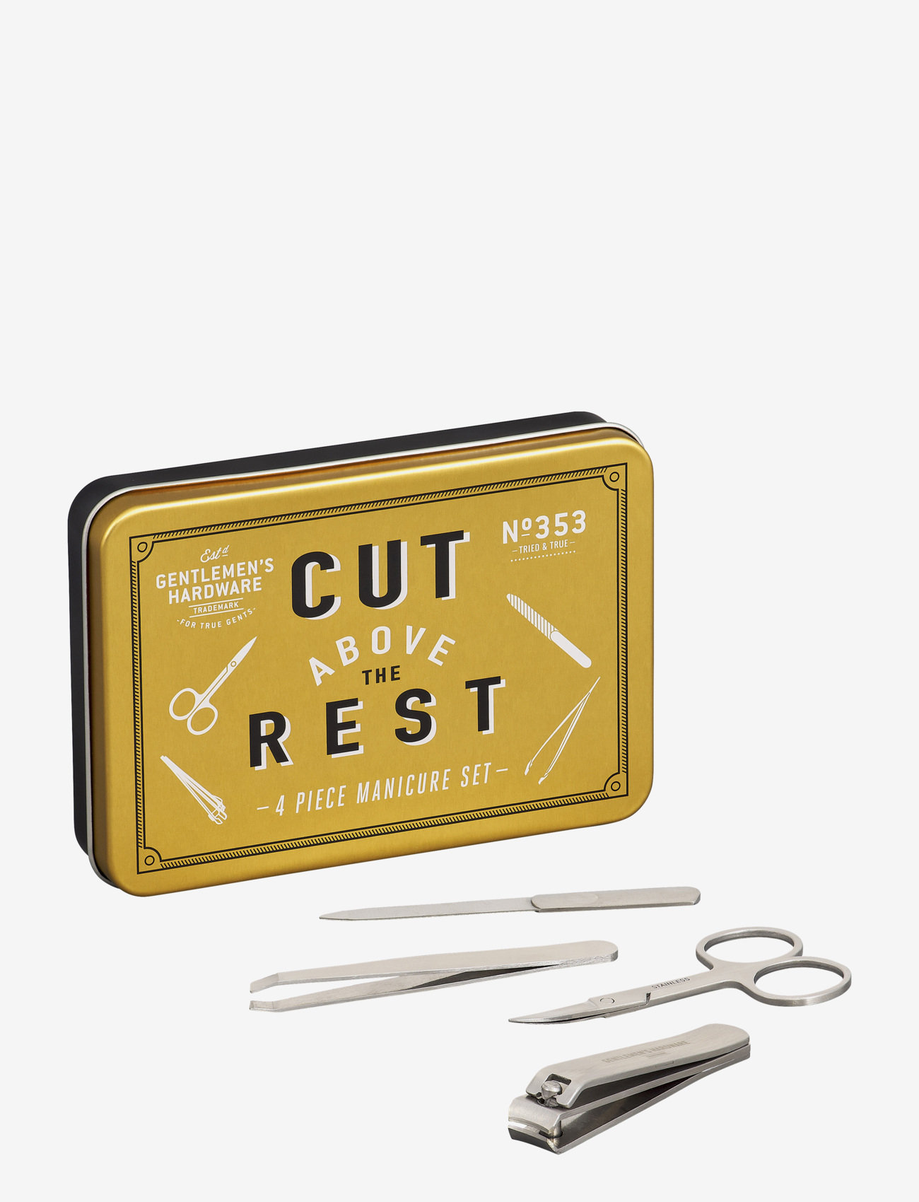 Gentlemen's Hardware - Manicure Set In Tin - presentaskar - gold - 0