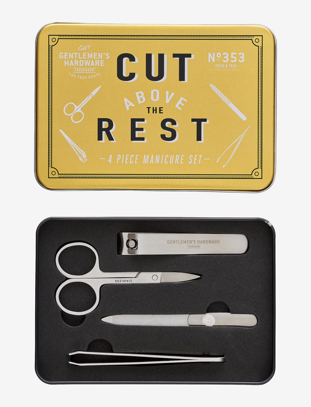 Gentlemen's Hardware - Manicure Set In Tin - presentaskar - gold - 1