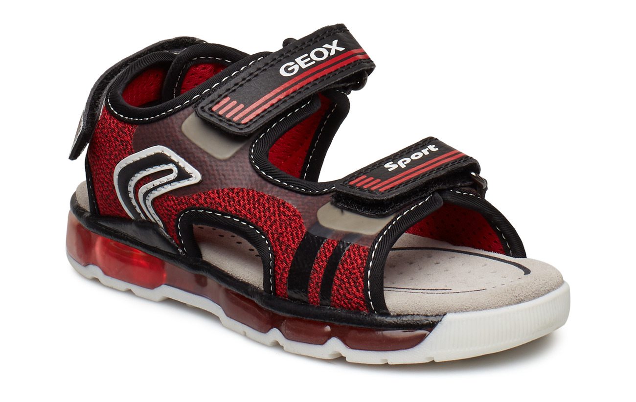 GEOX JR SANDAL ANDROID - RED BLACK