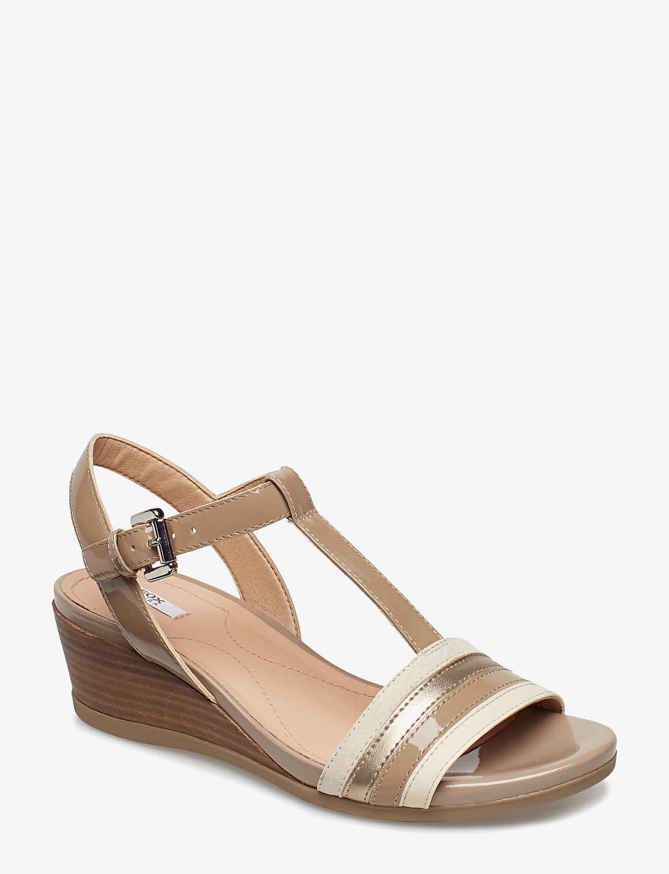 GEOX - D MARYKARMEN - chaussures compensées - med beige