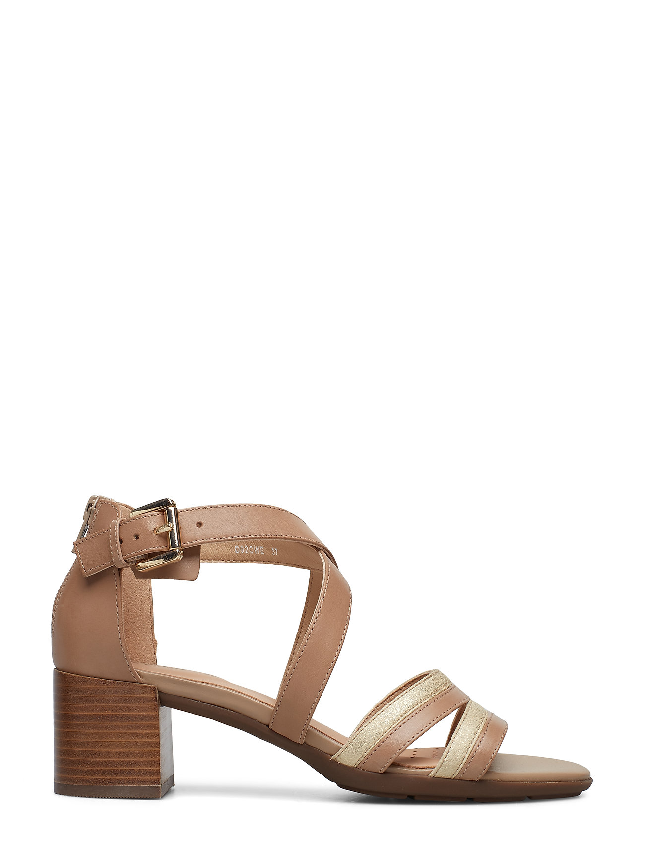 GEOX - D MARYKARMEN MID SAN - sandales à talons - brown/gold