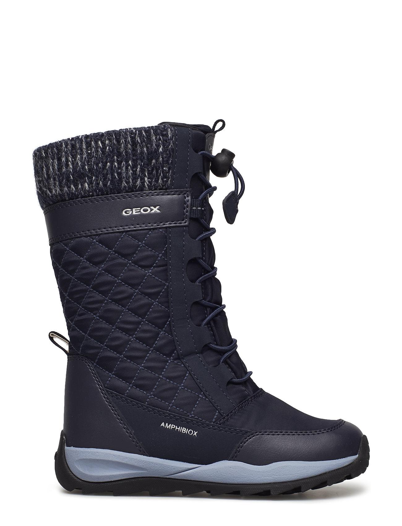 J Orizont B Girl Abx Vinterstøvler Med Snøre Sort GEOX