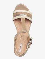GEOX - D MARYKARMEN - chaussures compensées - med beige - 3
