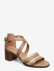 GEOX - D MARYKARMEN MID SAN - sandales à talons - brown/gold - 0