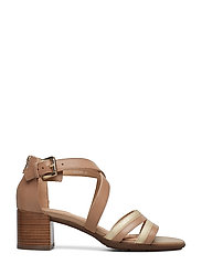 GEOX - D MARYKARMEN MID SAN - sandales à talons - brown/gold - 1